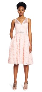 Adrianna Papell Tulle Embellished Dress