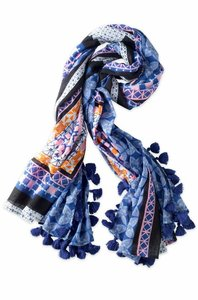 Stella & Dot Capri Cotton Wrap--Moroccan Tile