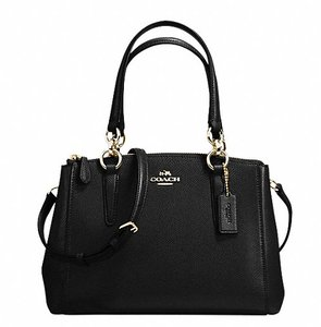 Coach Christie Crossbody Swingpack Signature F57523 Satchel in Black