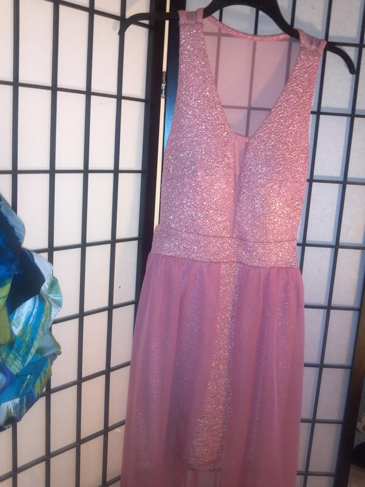 Teeze Me Blue/Peach Party Above Knee Formal Dress Size 4 (S) - Tradesy
