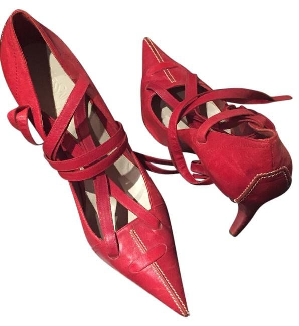 Item - Red ChYc Leather French Ysl Formal Shoes Size US 10 Regular (M, B)
