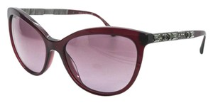 Chanel 5307 B Bijou Burgundy Red CC Logo Crystal Strass Cat Eye