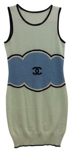 Chanel short dress Sea foam green, teal, black on Tradesy