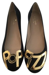 Kate Spade Pop Fizz Pop Fizz Size 9 Pop Fizz Black Gold Flats