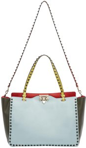 Valentino Rockstud Stud Crossbody Tote in MULTICOLOR