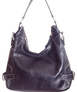 Michael Kors Mk Leather Hobo Bag