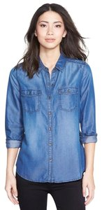 Halogen Button Down Shirt Dark Indigo