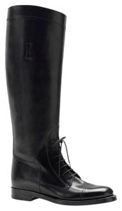 Gucci Boulanger Equestrian Lace-up Black Boots