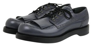 Gucci Men Brogue Piombo Fringe Lace Sale Clearance Gray Flats