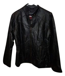 Andrew Michael Leather Pattern Leather Jacket