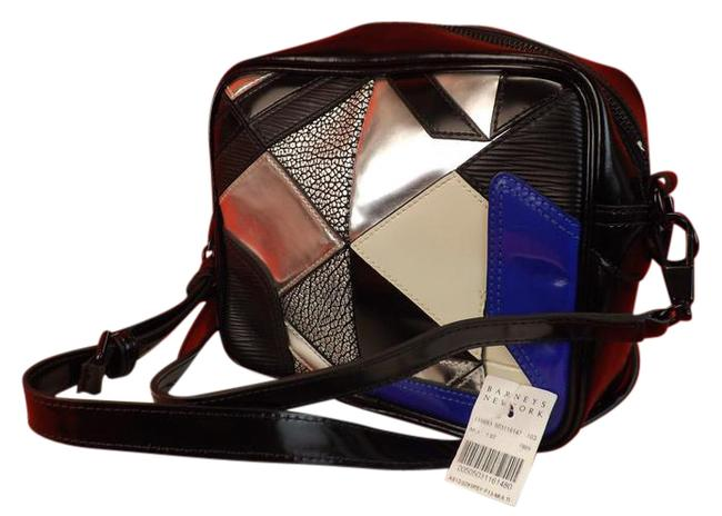 Item - Camera Axial Patchwork Multicolor Leather Cross Body Bag