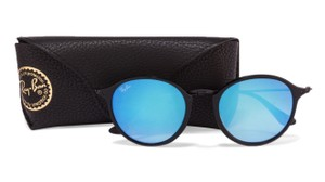 Ray-Ban NWT RAY BAN RB2447 901/40 FLECK MIRRORED GRADIENT BLUE SUNGLASSES