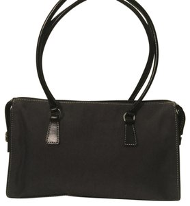 Ann Taylor Satchel in grey and black