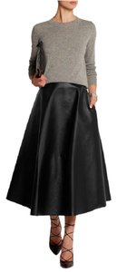 Lanvin Leather Faux Leather Chic High-end Luxury Skirt Black
