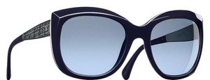 Chanel CHANEL 5347 Oversized Square Signature Sunglasses Midnight Blue