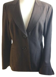 Lafayette 148 New York Fitted Career Wool Professional Brown Blazer