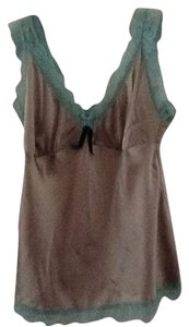 Gold Hawk Green Lace Top Silver