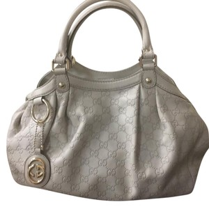 Grey Gucci Leather purse Hobo Bag