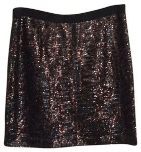 Tory Burch Mini Skirt brown and black