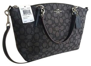 Coach Prairie Kelsey Crossbody Satchel in Black/Smoke Grey