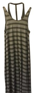 Olive/Gray Maxi Dress by Free People Beach Striped Maxi