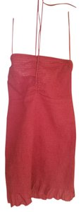 Free People short dress rust orange Cover Up Hippie Chic on Tradesy