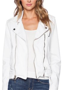 Hudson Jeans Denim Moto Cynic White Jacket