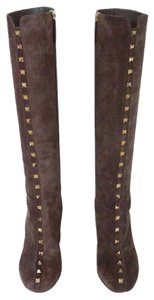 Valentino Knee High Leather brown Boots