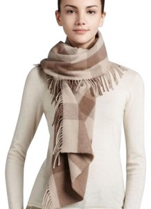 Burberry Burberry Happy Tonal Check Wool Cashmere Scarf