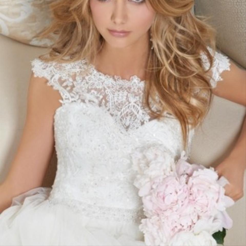 Camille la Vie Light Ivory Lace and Tulle Traditional Wedding Dress ...