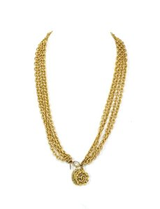 Chanel Chanel Multi-Strand Goldtone Chainlink Charm Necklace