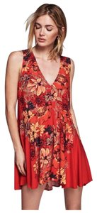 Free People short dress Red Tunic Mini on Tradesy