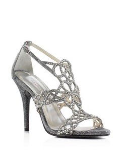 Caparros Open Toe Metallic Stiletto Formal Silver Sandals