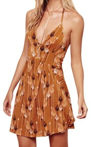 Free People short dress Orange Halter Mini on Tradesy