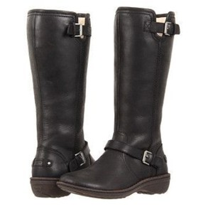 UGG Australia Ugg Leather Black Boots