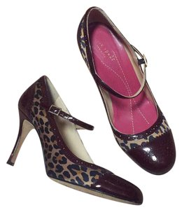 Kate Spade maroon tan black Pumps