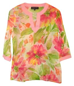Jones New York Peony 100% Cotton Tunic