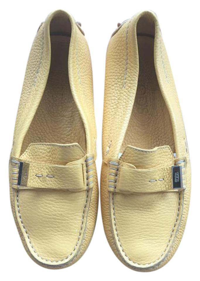 5aafbaf636b Tod s Yellow Gommino Leather Driving Loafers 35.5 Flats Size US 5.5 ...