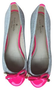 Kate Spade Tweed Tan and Pink Flats