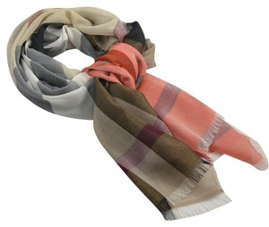 Burberry New Color Stripe Half Mega Check Scarf