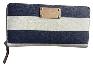 Kate Spade Kate Spade New York Wallet Wellesley Printed Neda Navy Stripes