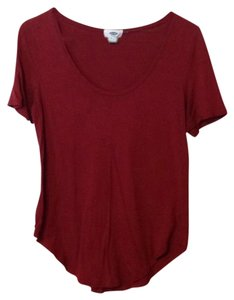 Old Navy T Shirt Deep Red