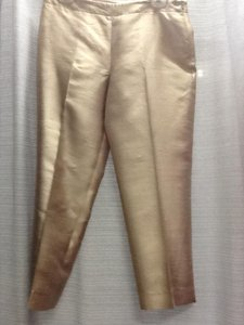 Talbots Wool Silk Trouser Pants Gold