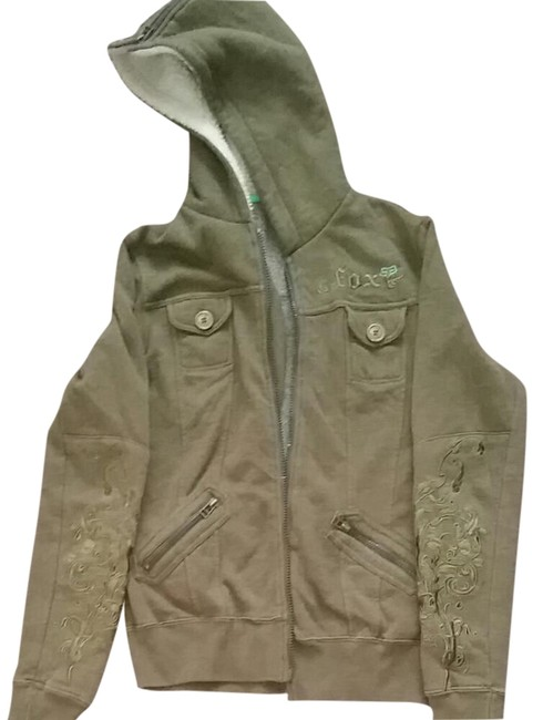 Preload https://img-static.tradesy.com/item/20426973/fox-army-green-zip-up-jacket-sweaterpullover-size-10-m-0-3-650-650.jpg