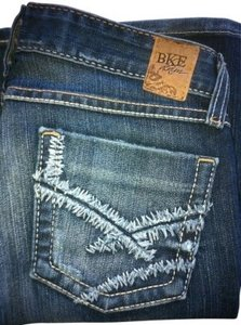 Lucky Brand Low Rise Distressed Boot Cut Jeans-Medium Wash