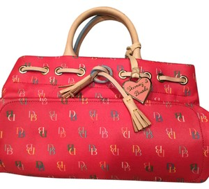Dooney & Bourke Satchel in Coral