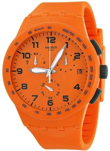 Swatch SUSO400 Wild Orange Dial Silicone Strap Chronograph Women's Watch