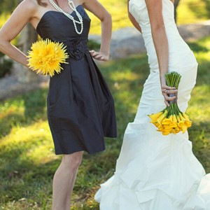 Alfred Sung Ebony/Dark Charcoal Alfred Sung D498 Dark Grey Bridesmaid Dress Dress