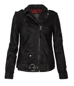AllSaints All Leather Leather Biker Motorcycle Jacket