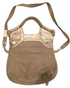 Foley + Corinna + Leather Tote in Putty combo